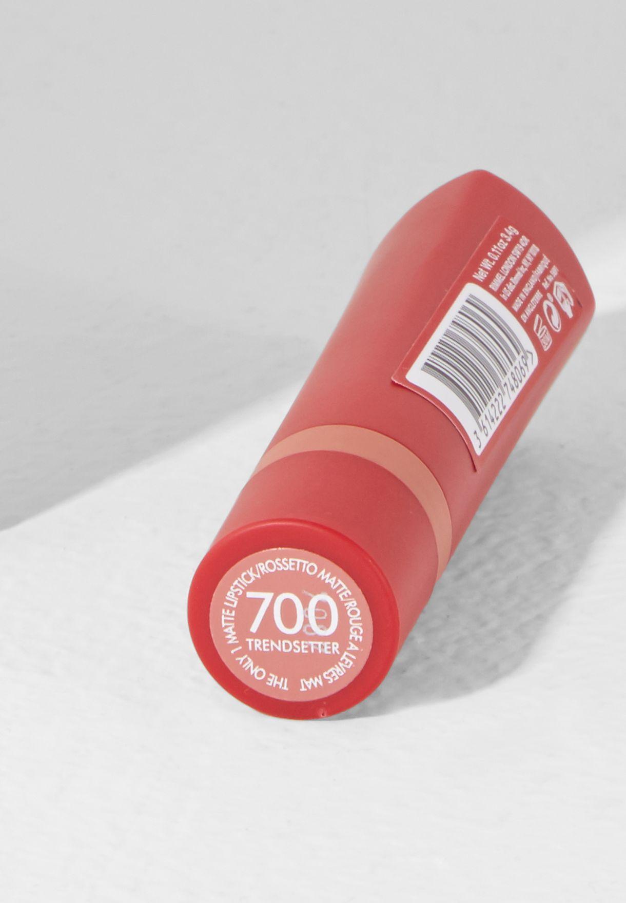 db0ec766e تسوق احمر شفاه ذا اونلي وان غير لامع ماركة ريميل لندن لون وردي ...