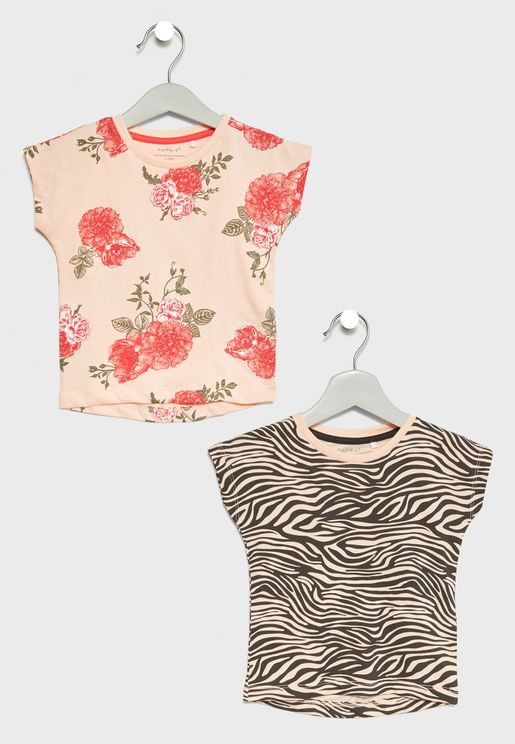 Infant 2 Pack Printed T-Shirts