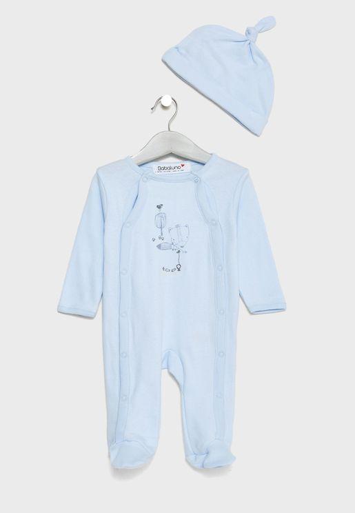 Infant Bodysuit + Hat Set
