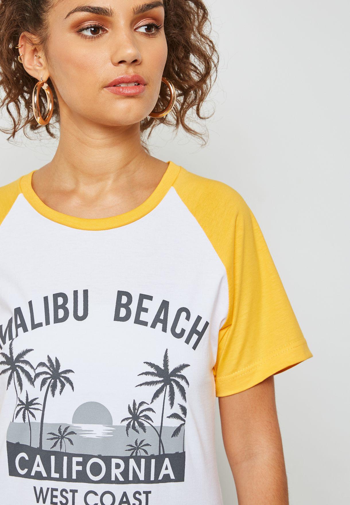 Slogan Raglan T-Shirt