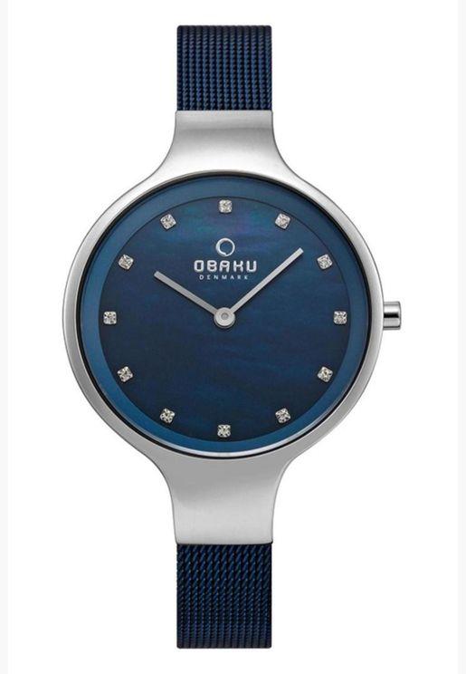 ساعة اوباكو سكاي بسوار شبكي للنساء - V173LXCLML