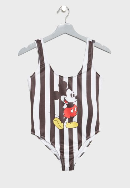 Striped Mickey Mouse Swimsuit