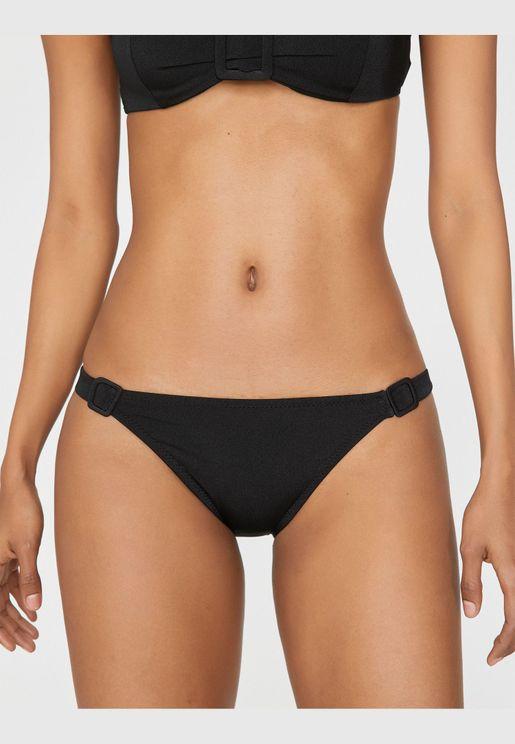 Clasp Detailed Bikini Bottom