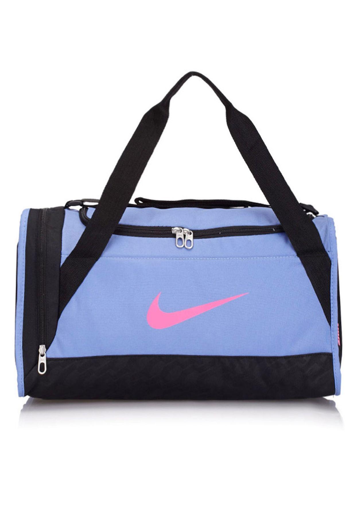 86d3b2b3c7f4 Shop Nike blue Extra Small Brasilia 6 Duffel BA4911-463 for Women in ...
