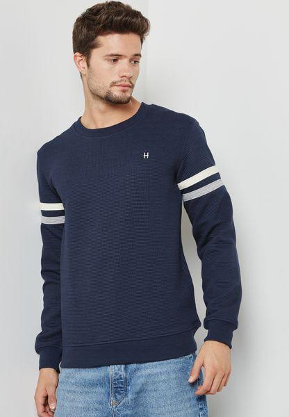 Sleeve Stripe Sweatshirt