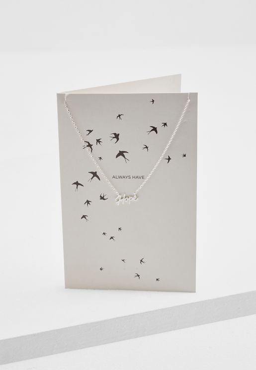 Sall Necklace Giftcard Box