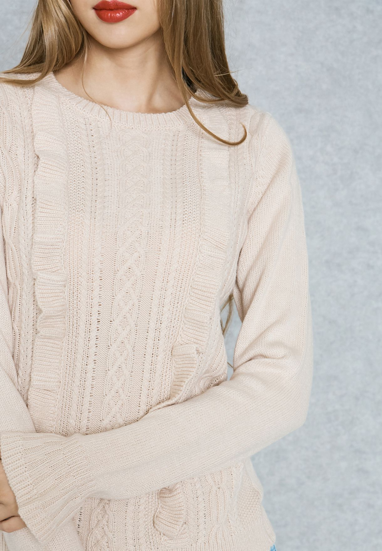 Ruffled Detail Sweater