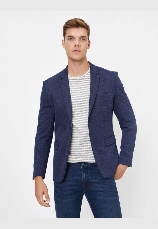 Button Detailed Blazer Jacket