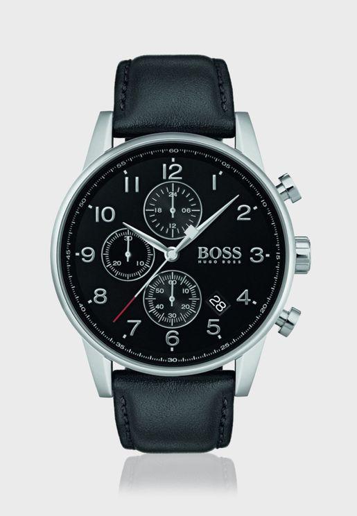 هيوغو بوس ساعة نافيجاتور بسوار جلدي للرجال - 1513678