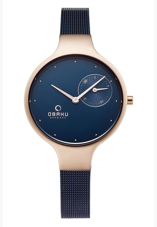 ساعة اوباكو انغ بسوار شبكي للنساء - V201LDVLML