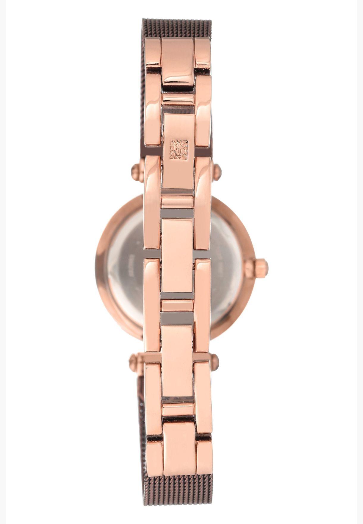 Anne Klein Diamond Steel Strap Watch for Women - AK3003RGBN