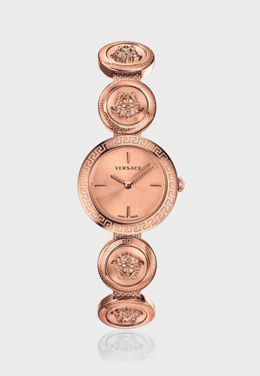ساعة فيرساتشي ميدوسا بسوار ستانلس ستيل للنساء - VERF00918