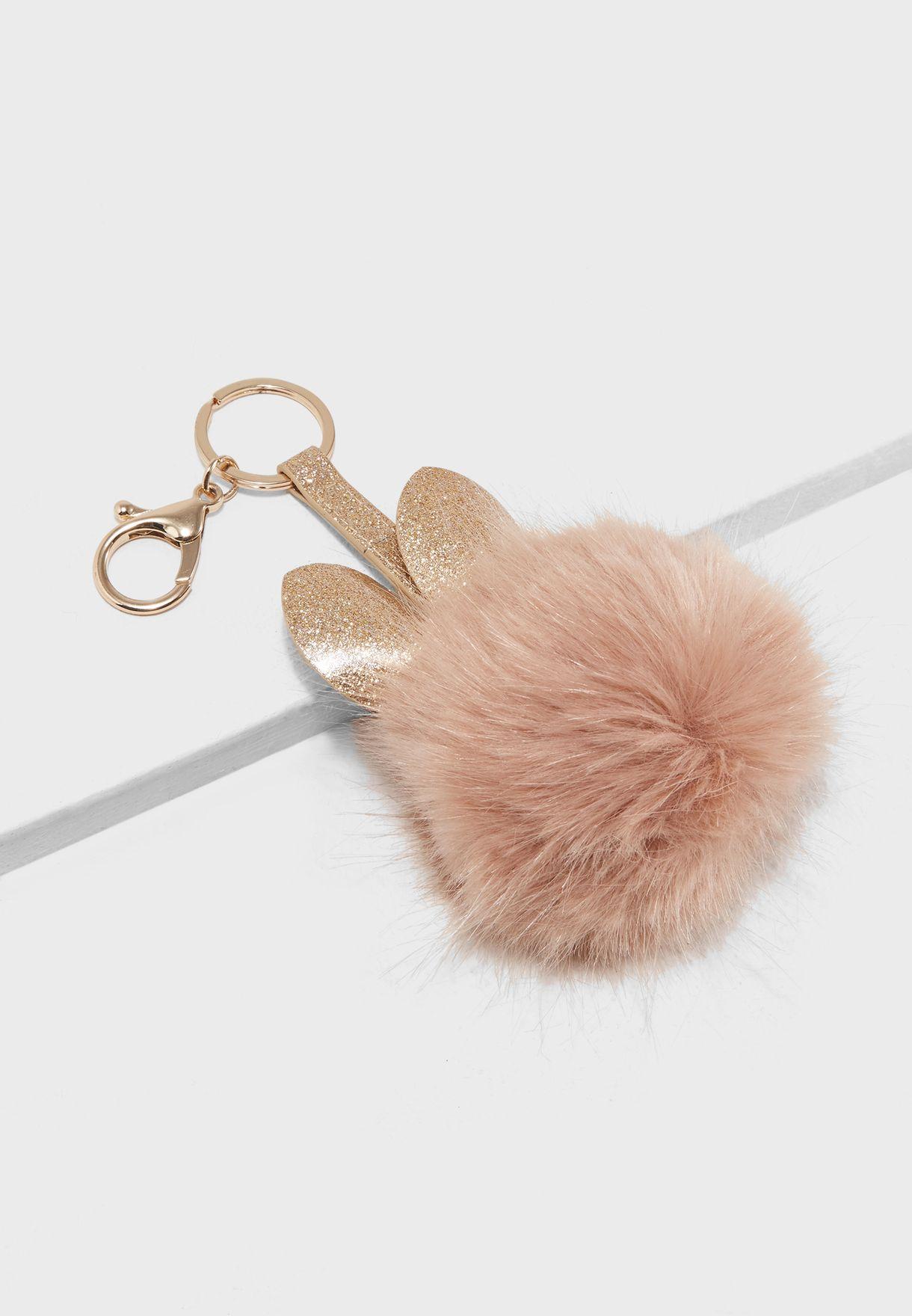 Shop New Look neutrals Glitter Cat Faux Fur Pom Keyring 387508072 for Women  in Qatar - NE767AC28JJJ f1bbf6f9a8ee4