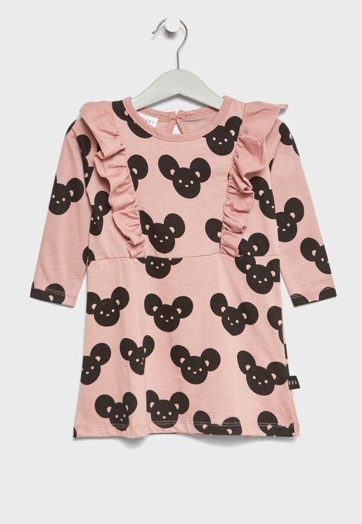 Little Mouse Print Dress