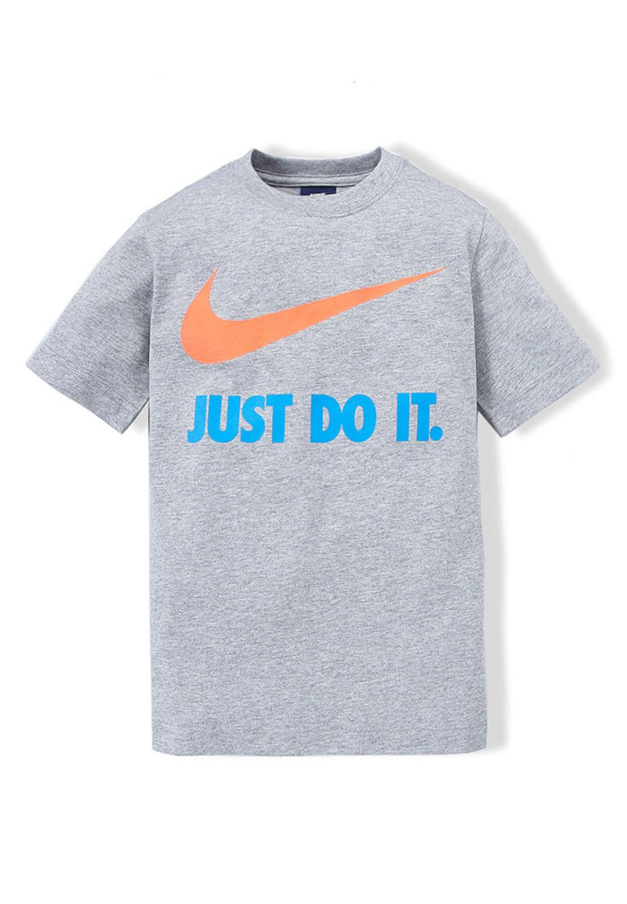 de0631e2334b Shop Nike grey JDI T-Shirt NKAP637264-063 for Kids in Qatar - NI727AT28TET
