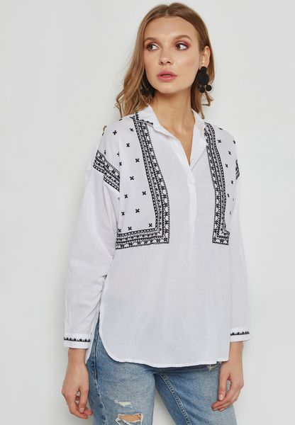 Embroidered Nightshirt