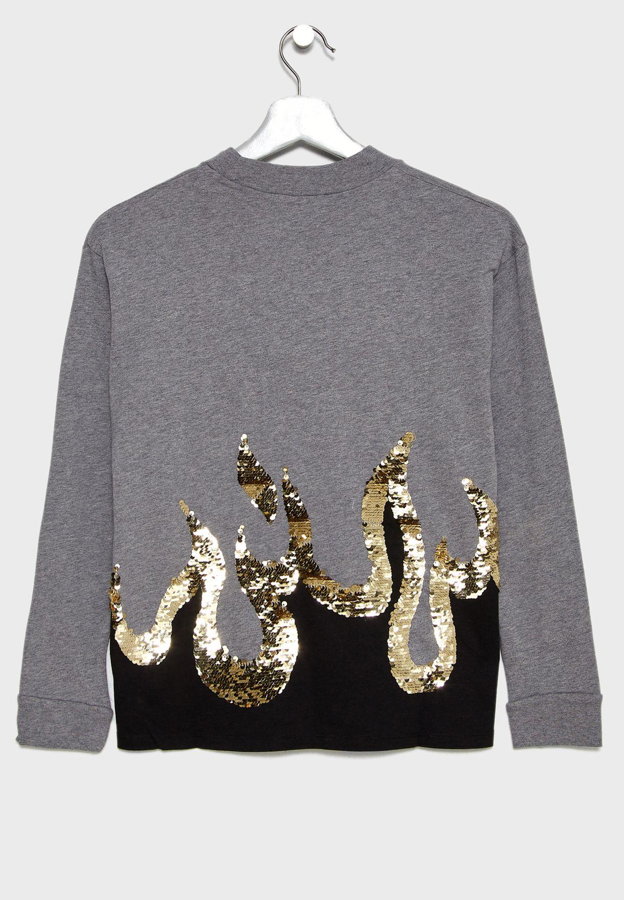 Teen Sequin Detail Sweatshirt
