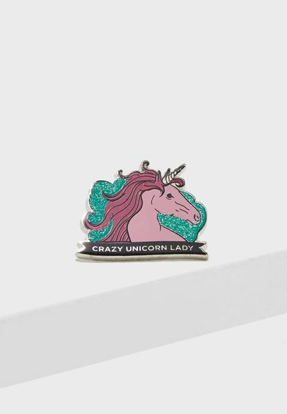 Unicorn Lady Novelty Badge