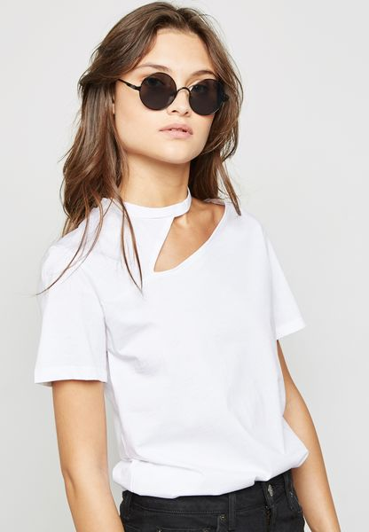 Cut Out One Shoulder T-Shirt