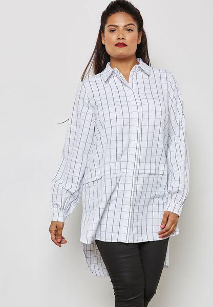 Longline Checked Shirt