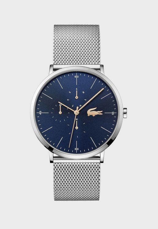 ساعة لاكوست مون بسوار شبكي للرجال - 2011024