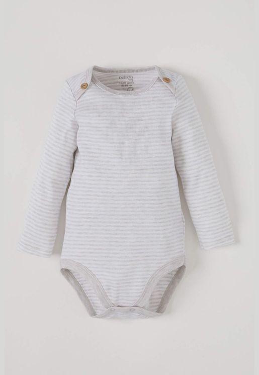 BabyGirl Long Sleeve Snap Body