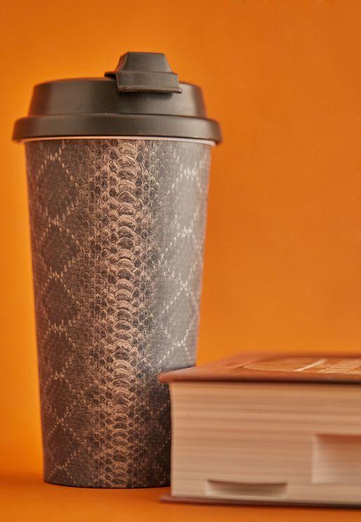 Snakeskin Print Travel Mug
