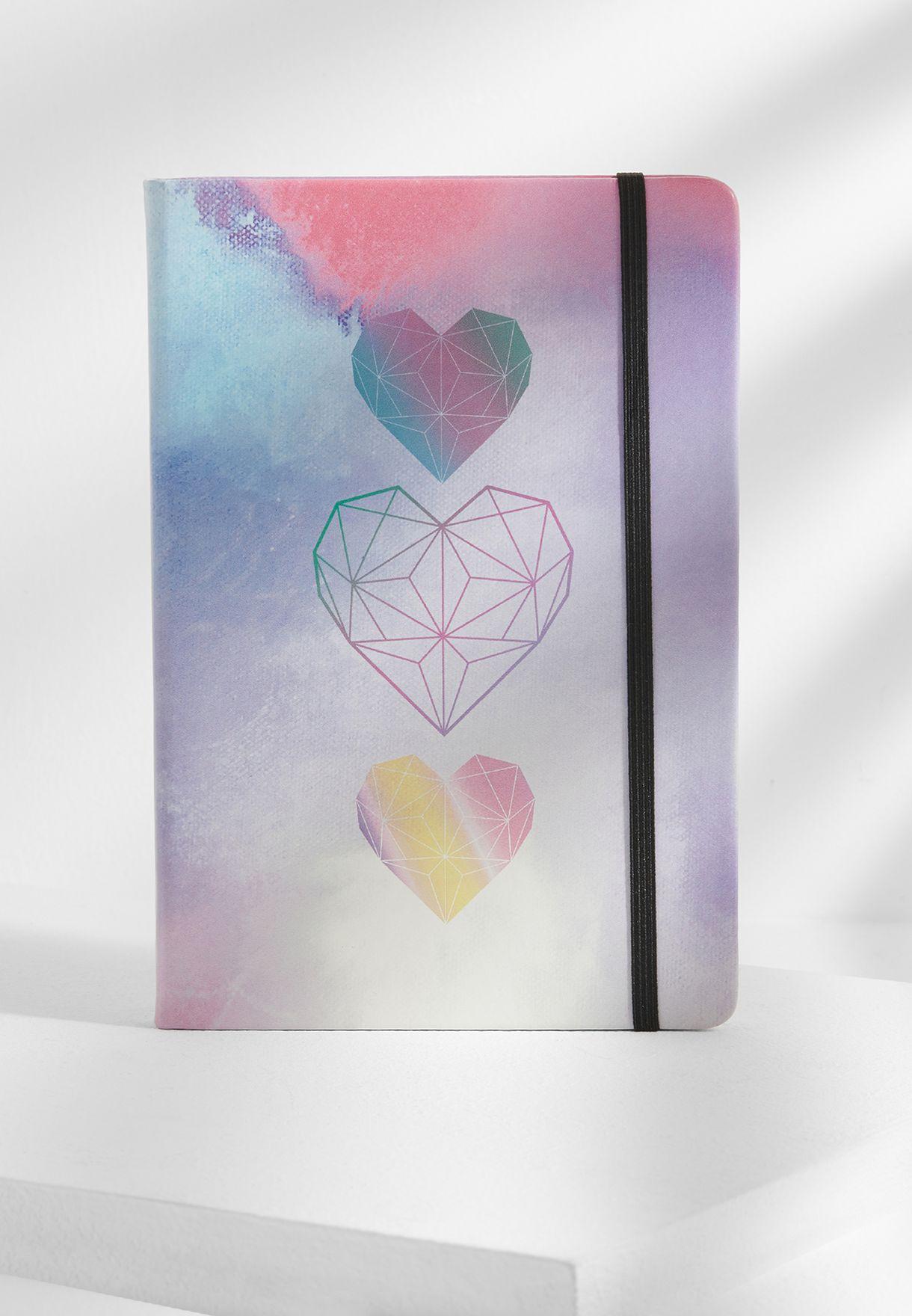A5 Heart Notebook