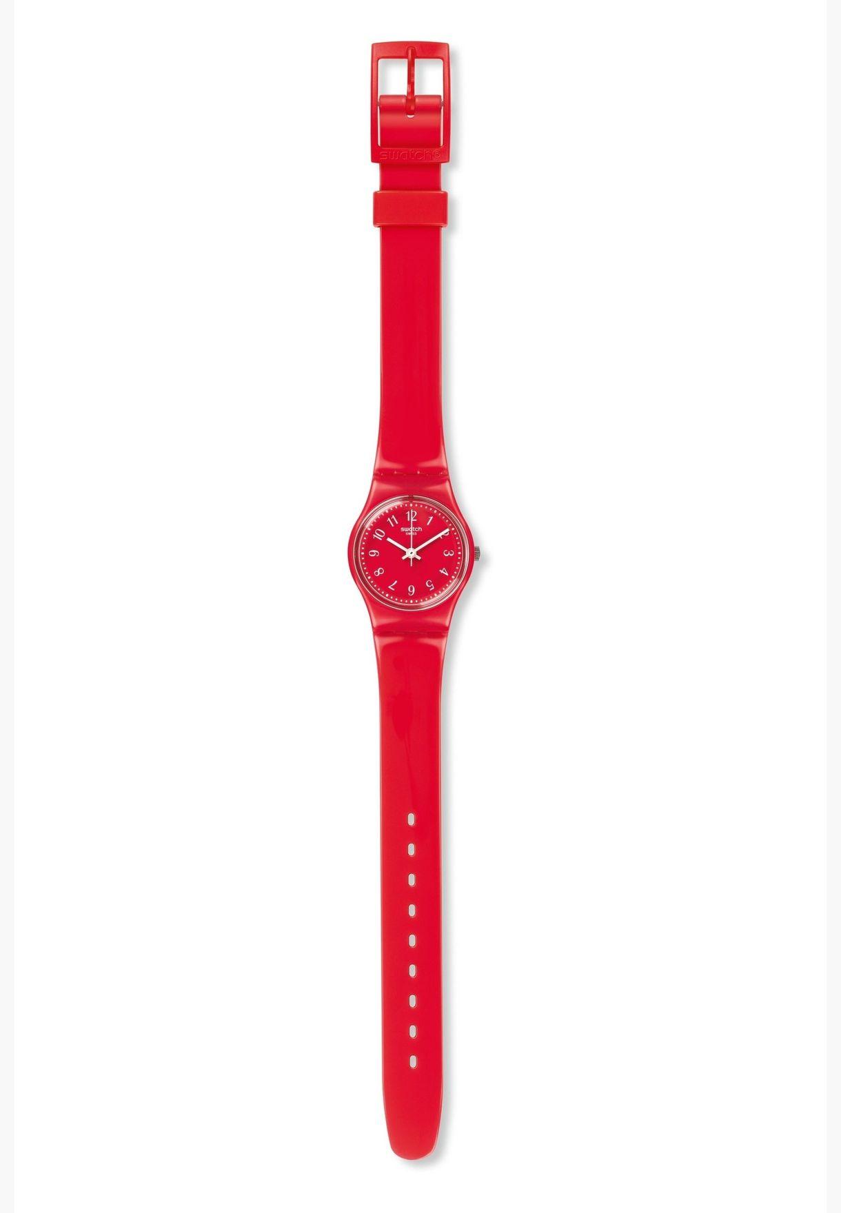 ساعة سواتش للنساء بسوار سيليكون قياسي - LR127