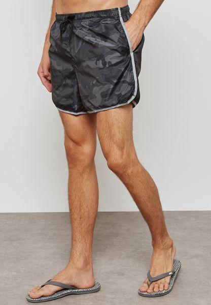 Conard Camo Print Swimshorts
