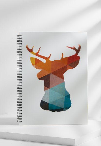 A4 Geometric Deer Head Notebook