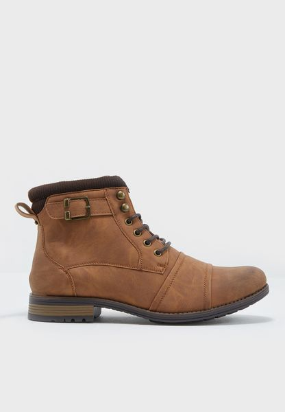 Buckle Military Boot