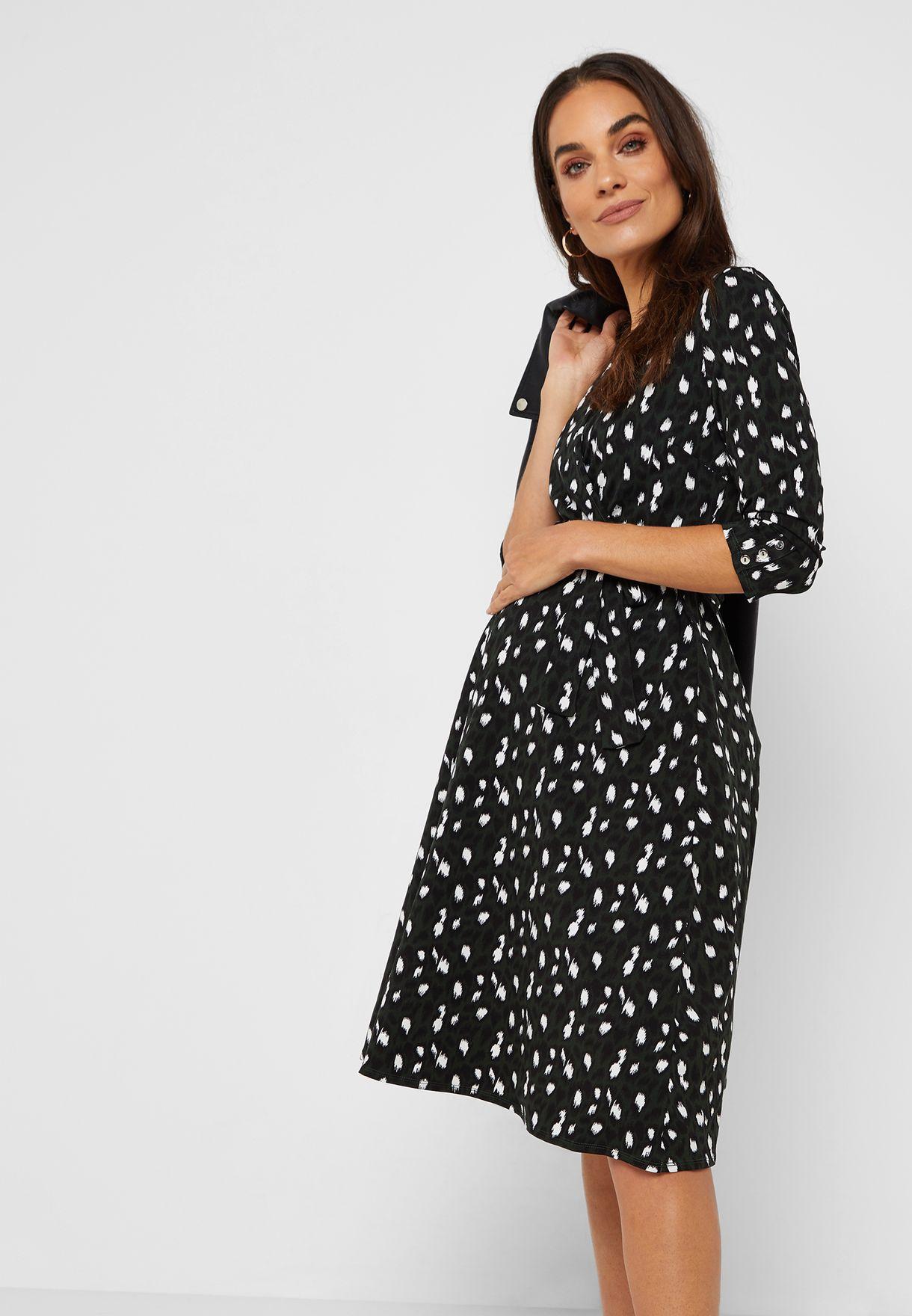 ed2b0b3b26 Shop Dorothy Perkins Maternity prints Tie Waist Wrap Dress 17207775 ...