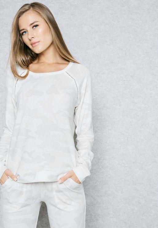 Cuffed Camo Pyjama T-Shirt