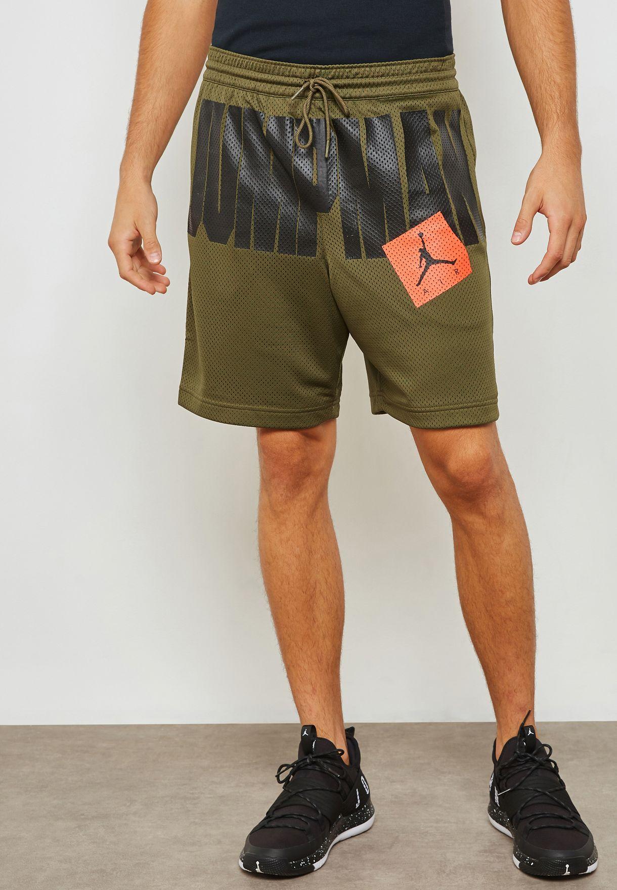 78b4be585c5e Shop Nike khaki Jordan Jumpman Air Mesh Shorts AA4607-395 for Men in ...