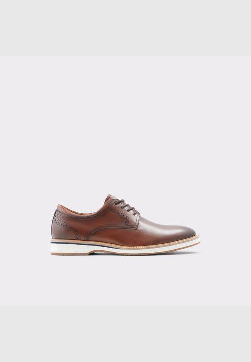 ALDO ASTEANFLEX Men Genuine Leather Shoes Flat Heel Euro 46 Brown