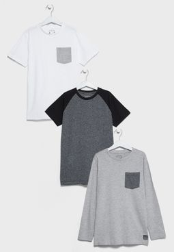 Kids 3 Pack Lux T-Shirts