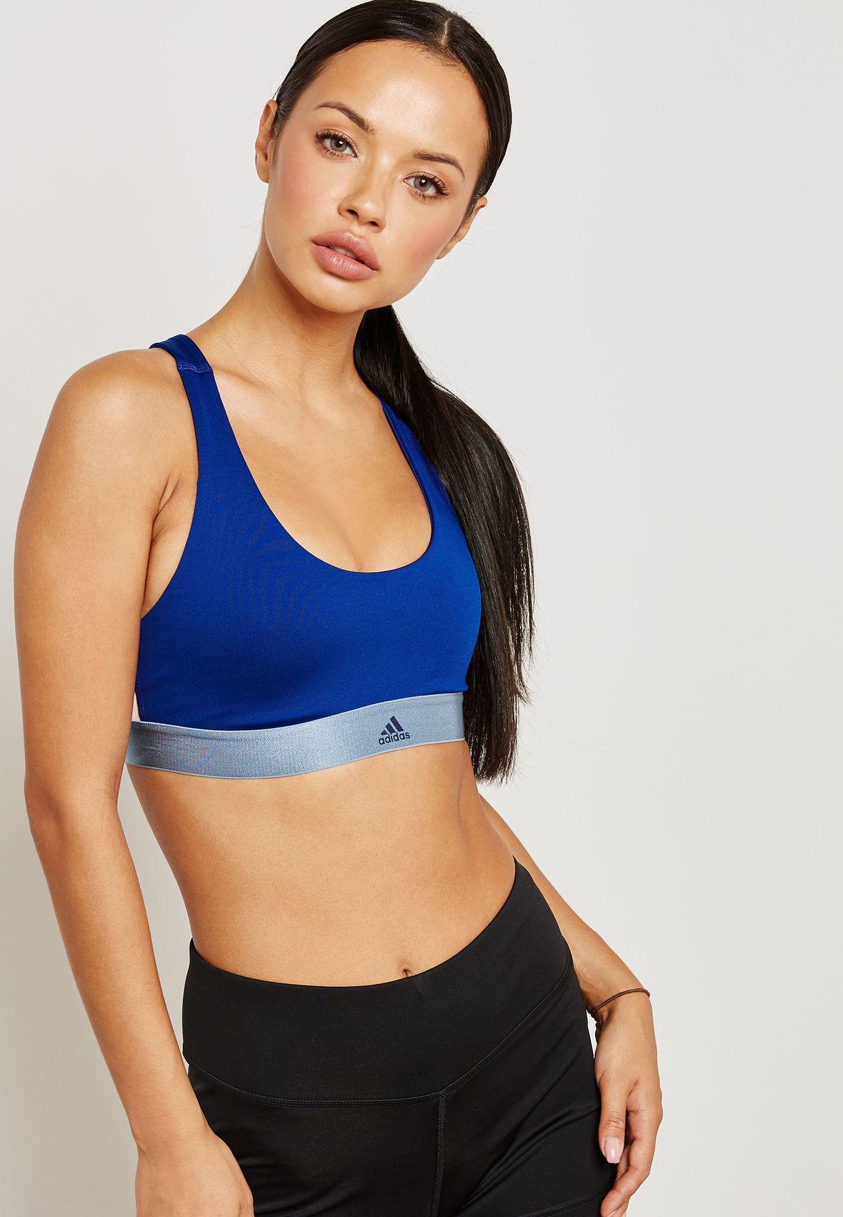 3c83537981e7ae Shop adidas blue All Me Crossback Sports Bra DM7205 for Women in UAE ...