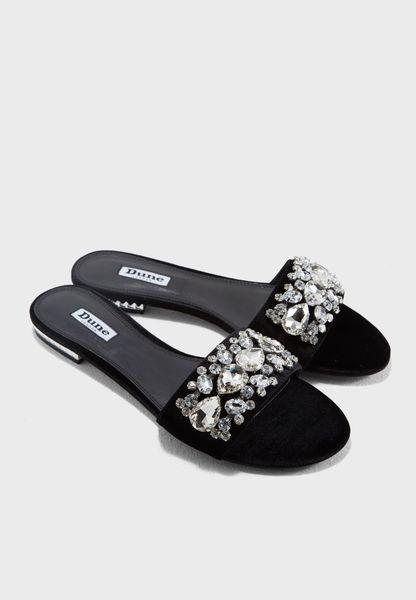 Novella Embellished Flat Sandal