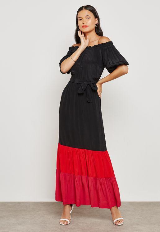 Bardot Colorblock Dress