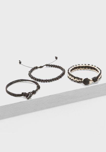 Multipack Woven Cord Bracelets