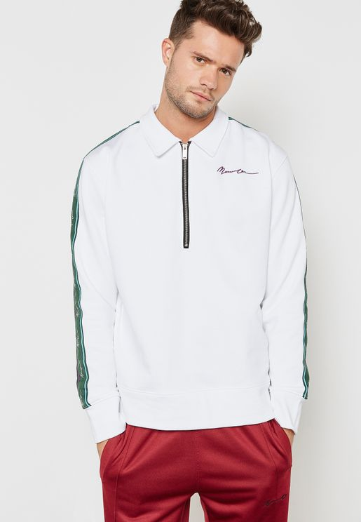 1/2 Zip Collar Track Top