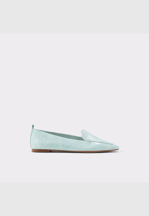 ALDO ORSONIFLEX Women Genuine Leather Shoes Flat Heel Euro 41 Green