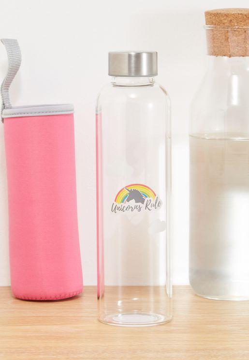 Unicorn Rules Water Bottle