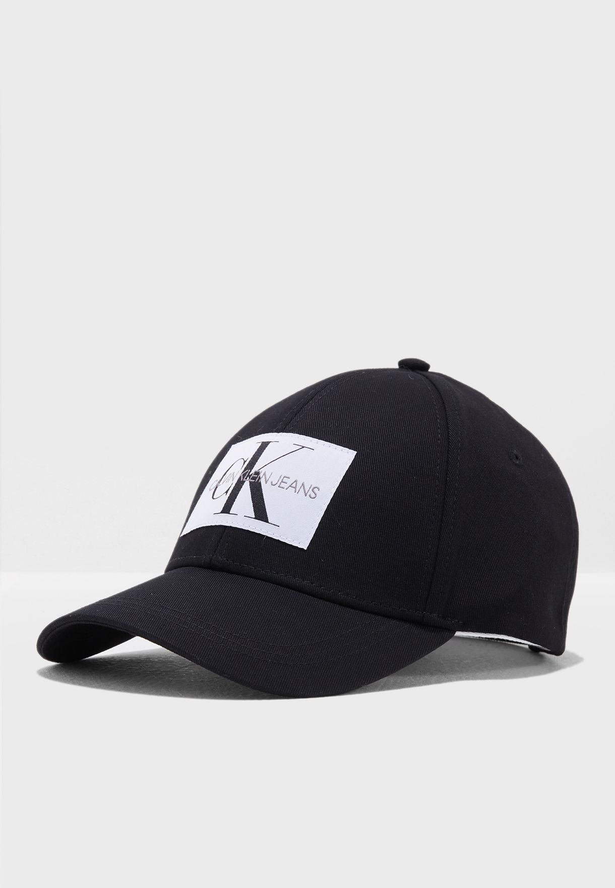 caed1c20 Shop Calvin Klein black Monogram Baseball Cap K40K400257008 for ...