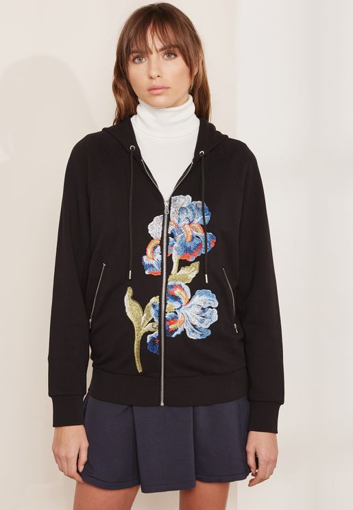 Pirenei Floral Embroidered Hoody