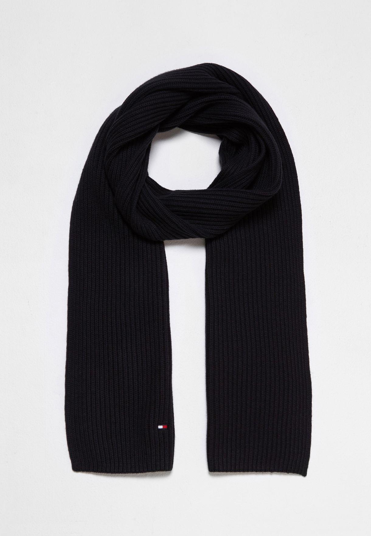 Shop Tommy Hilfiger black Pima Cotton Cashmere Scarf AM0AM02747002 for Men  in Saudi - TO279AC28APN 3a2147def755