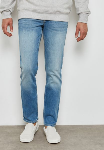 Washed Slim Fit Jeans
