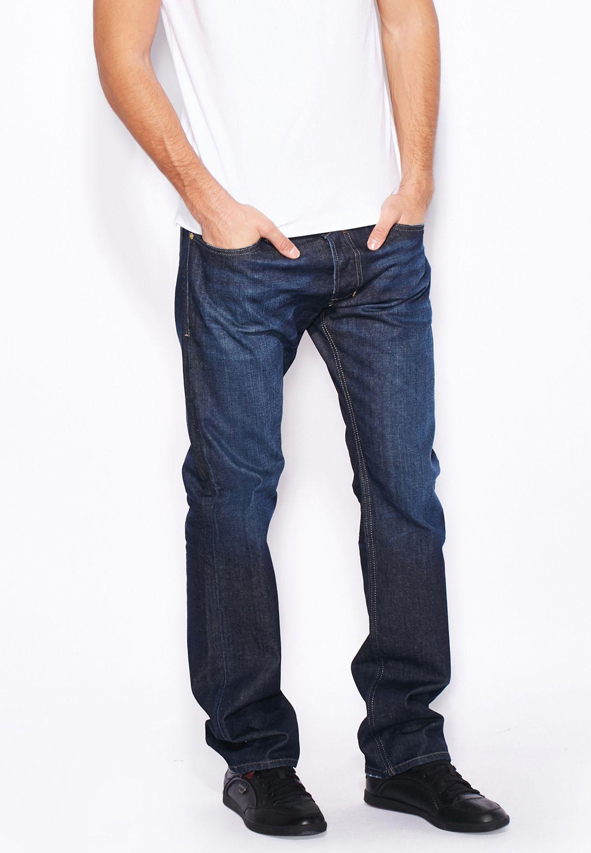 20404f28 Shop Diesel blue Safado Straight Fit Dark Wash Jeans 00C03G-0844C ...