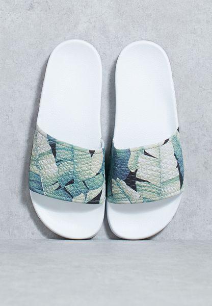 Jungle Print Flat Sandals